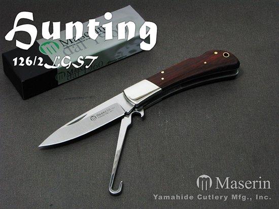 【AH】Maserin マセリン 126/2LGST ハンティング 2刀 バードフック付 折り畳みナイフ(バードナイフ)