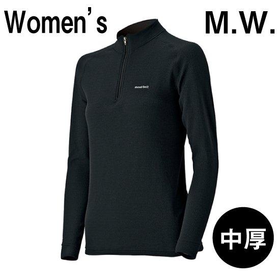 【L】mont-bell モンベル ジオライン M.W. ミドルウェイト 中厚手 ハイネックシャツ Women's 女性用
