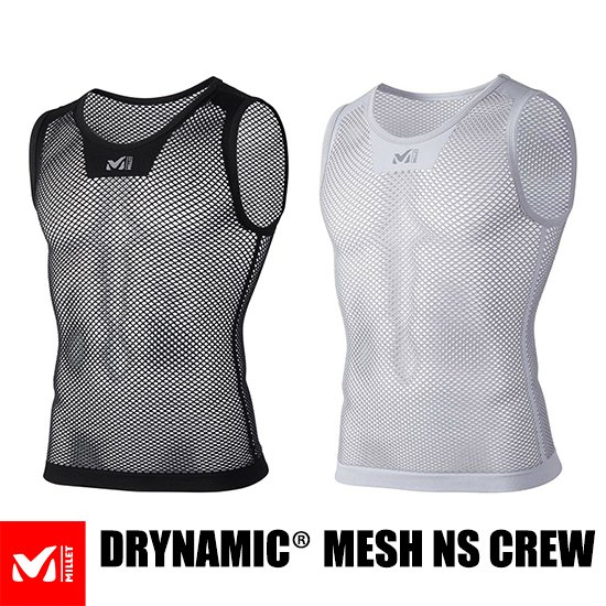 <img class='new_mark_img1' src='https://img.shop-pro.jp/img/new/icons5.gif' style='border:none;display:inline;margin:0px;padding:0px;width:auto;' />【AG】MILLET DRYNAMIC® MESH NS CREW ミレー ドライナミック メッシュ ノースリーブ クルー