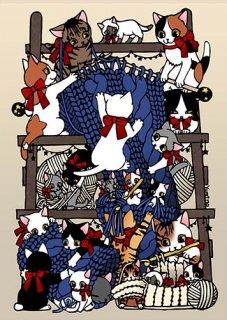 Yumino複製原画01『knitcats』