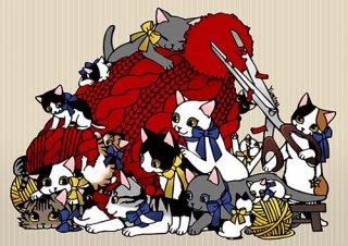 Yumino複製原画02『knithatcats』