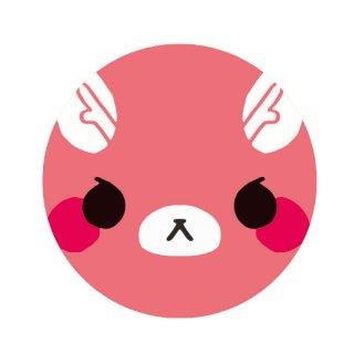 またぎのもみじちゃん お顔缶バッジ(76mmφ)