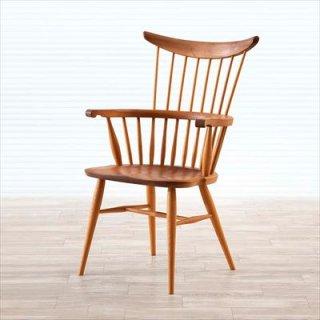 高山ウッドワークス W553 comb back armchair/ウォールナット+オーク