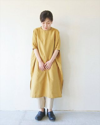 【TINA and SUSIE】ハードマンズリネン ワイドワンピース
