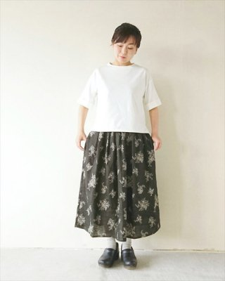 【pot-pourri】ミロン フラワープリントスカート