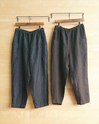 【blue willow】リネン サイドポケットパンツ