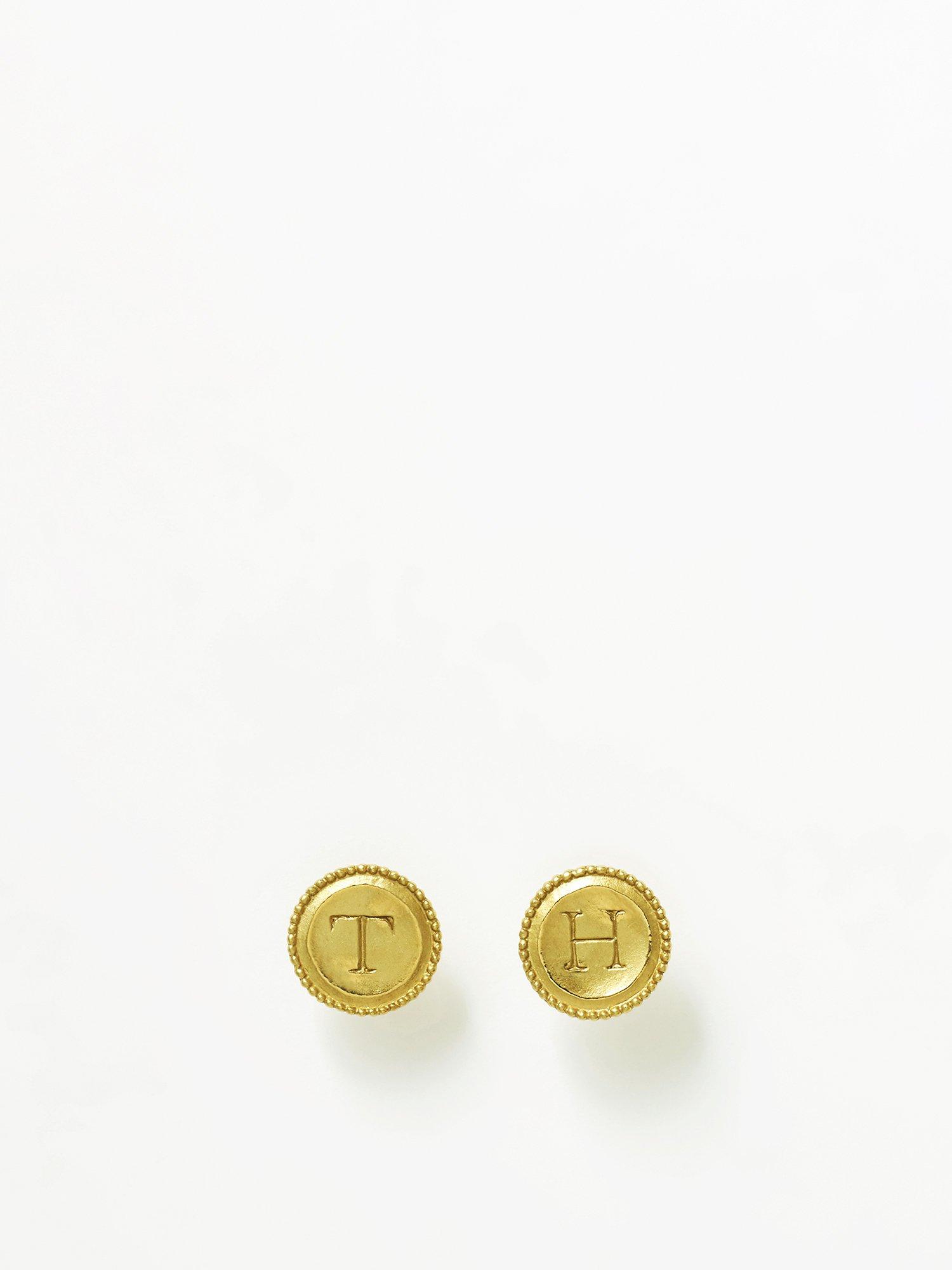 HELIOS / Initial coin earrings