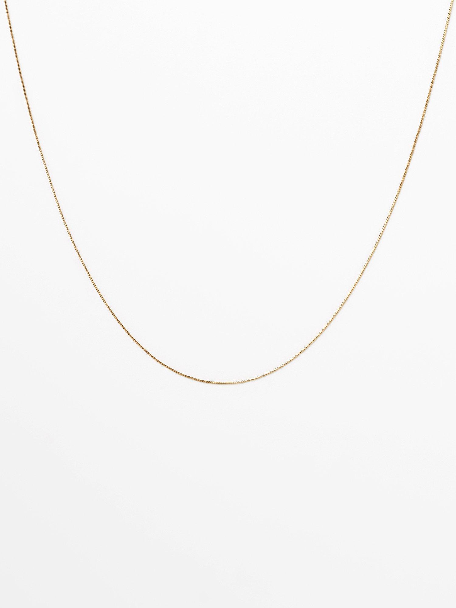 SOPHISTICATED VINTAGE / Gold line necklace / 380mm