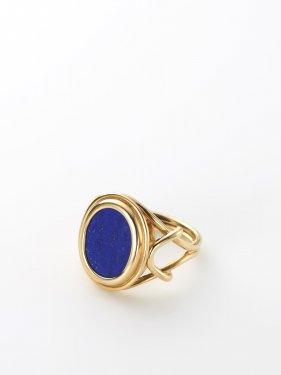 SOPHISTICATED VINTAGE / Vis stone signet ring / Lapis