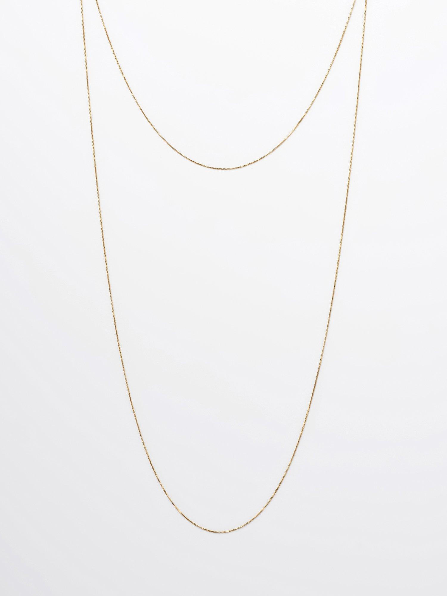 SOPHISTICATED VINTAGE / Gold line necklace / 1200mm