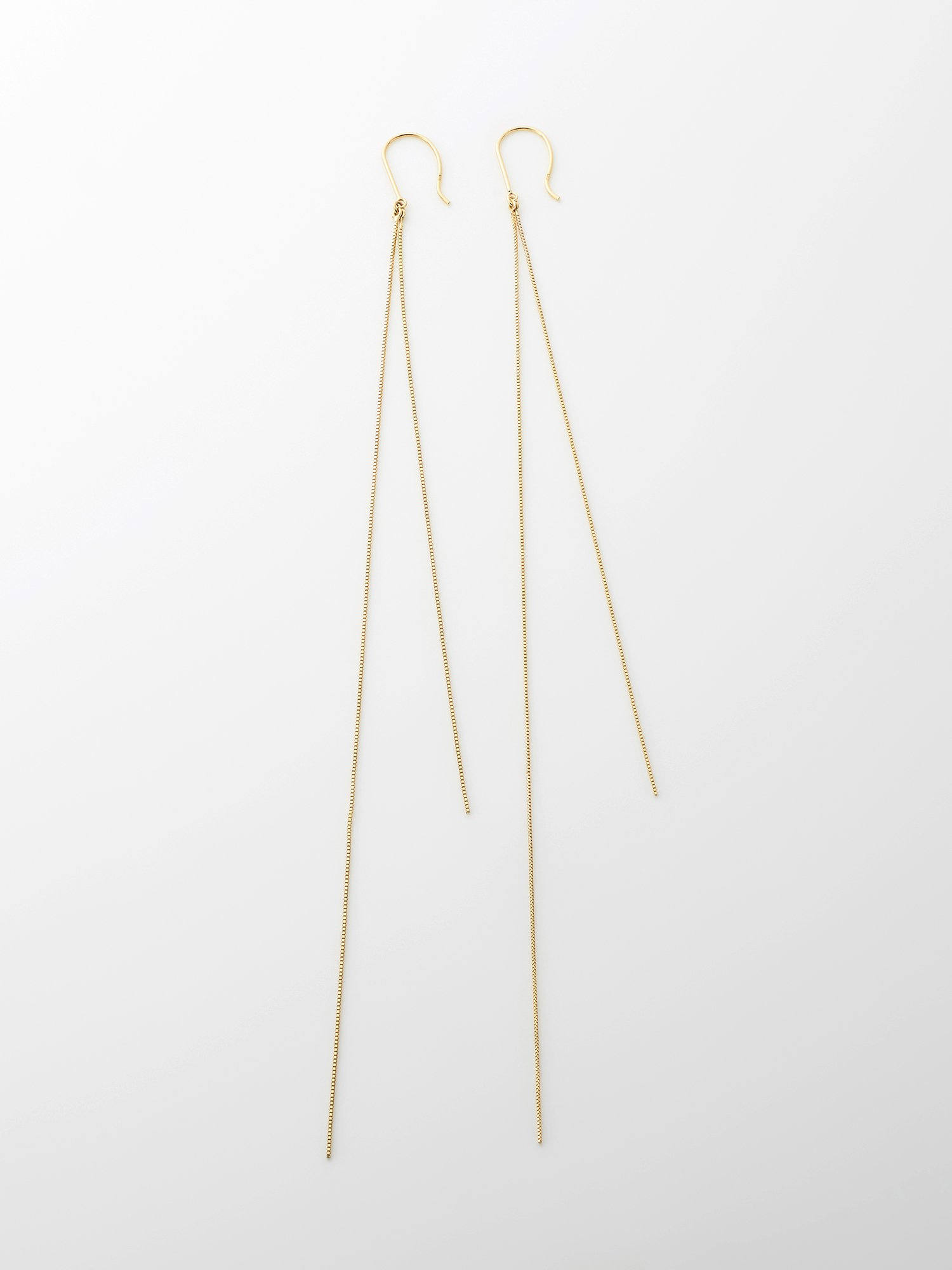 SOPHISTICATED VINTAGE / Gold line earrings / Long