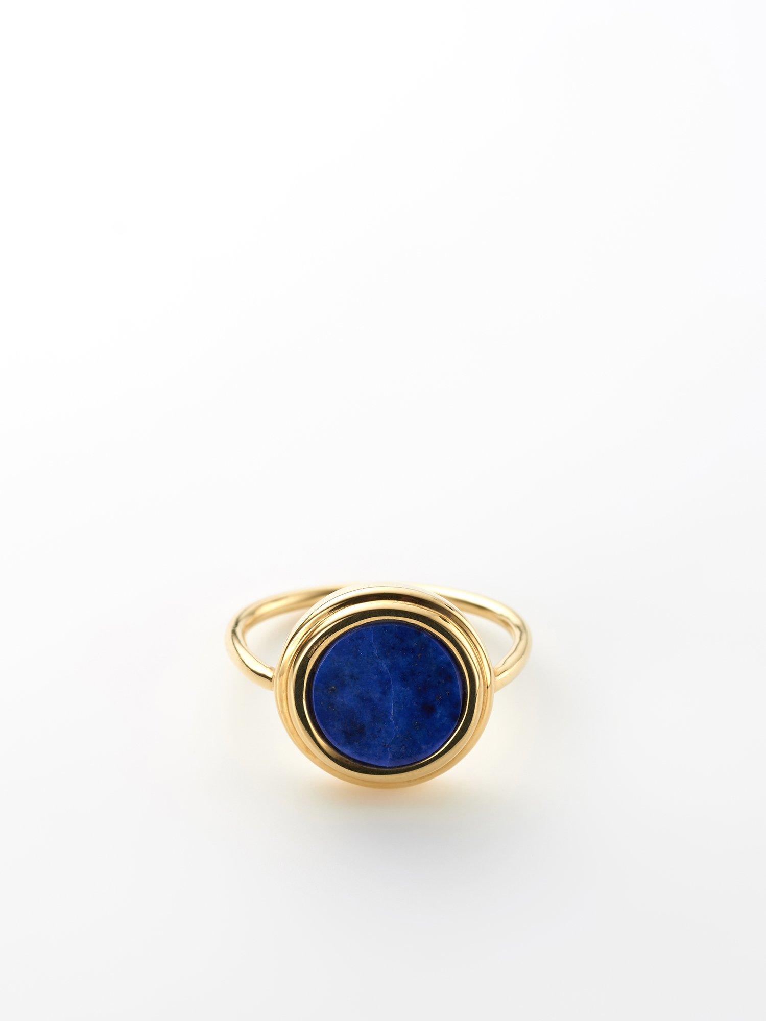 SOPHISTICATED VINTAGE / Planet ring / Lapis pyrite