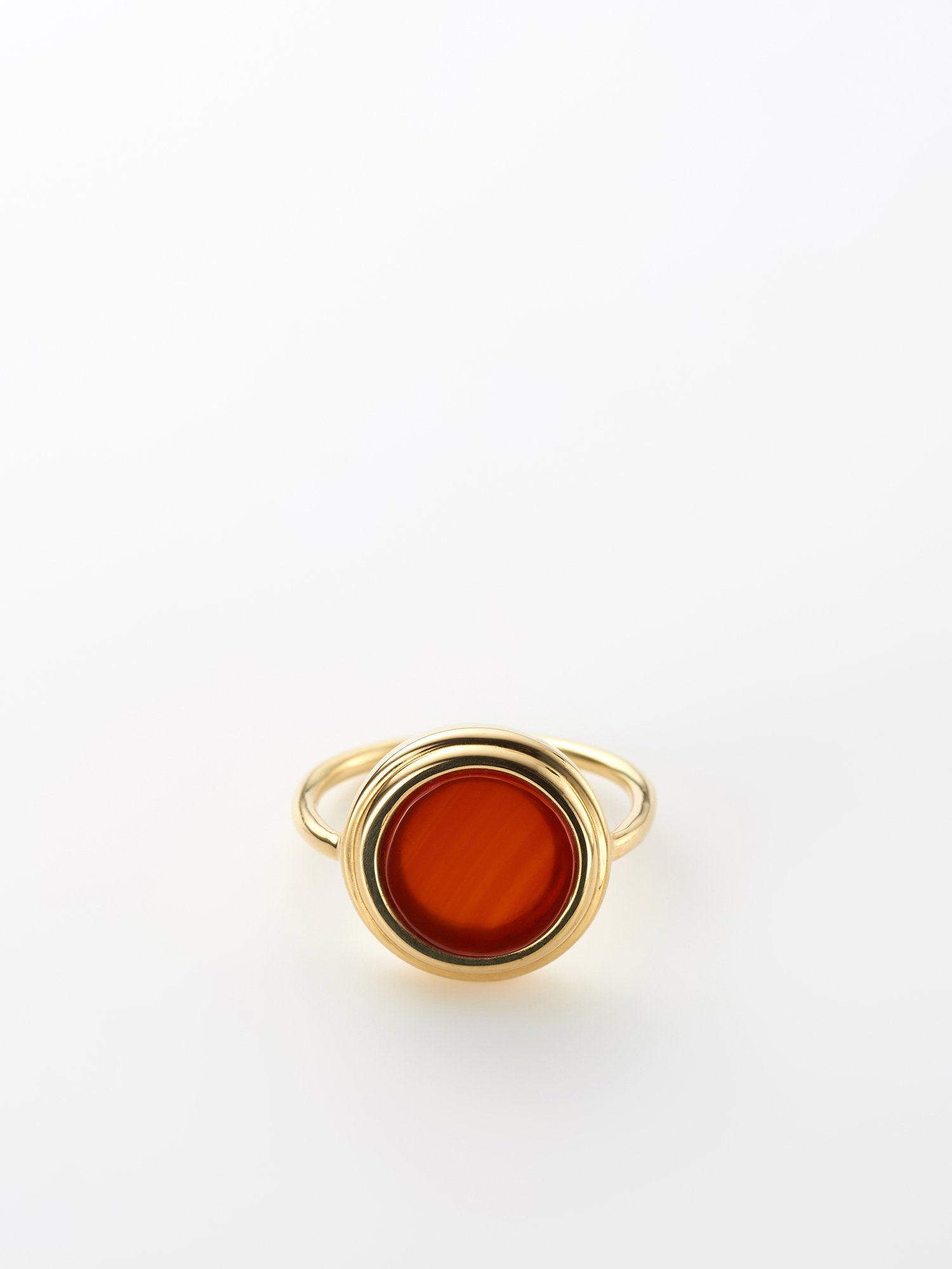 SOPHISTICATED VINTAGE / Planet ring / Carnelian