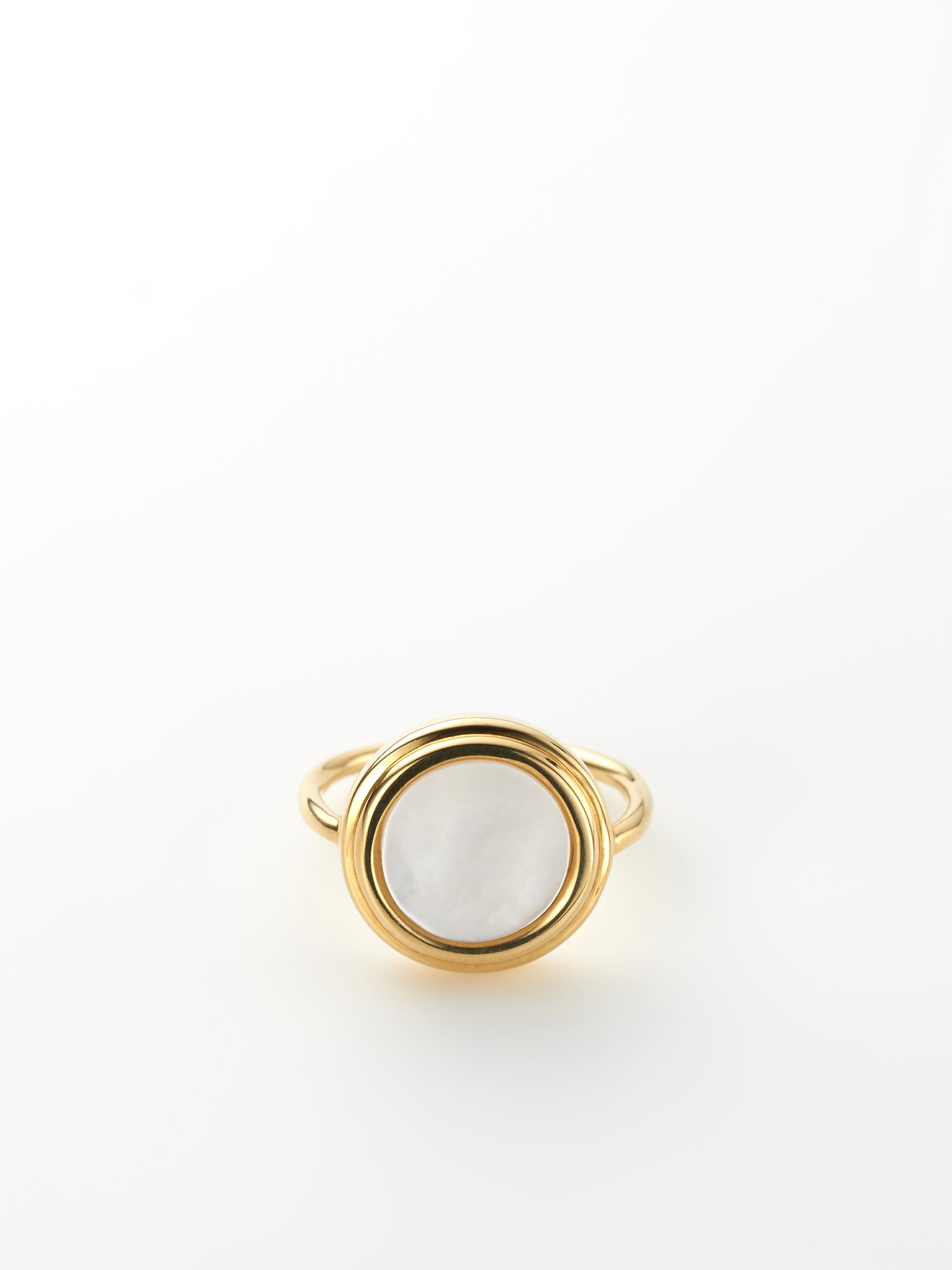 SOPHISTICATED VINTAGE / Planet ring / Mother of pearl