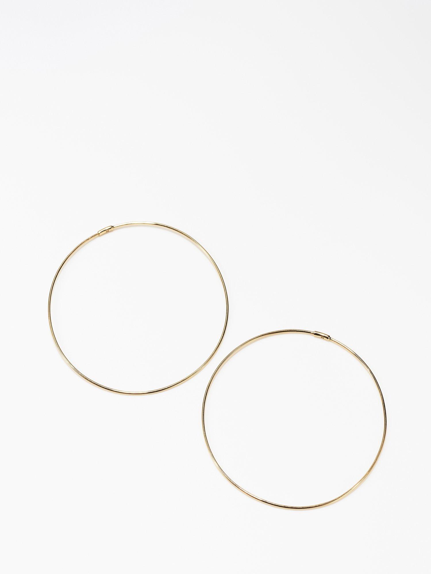 SOPHISTICATED VINTAGE / Solid hoop earrings / 45mm