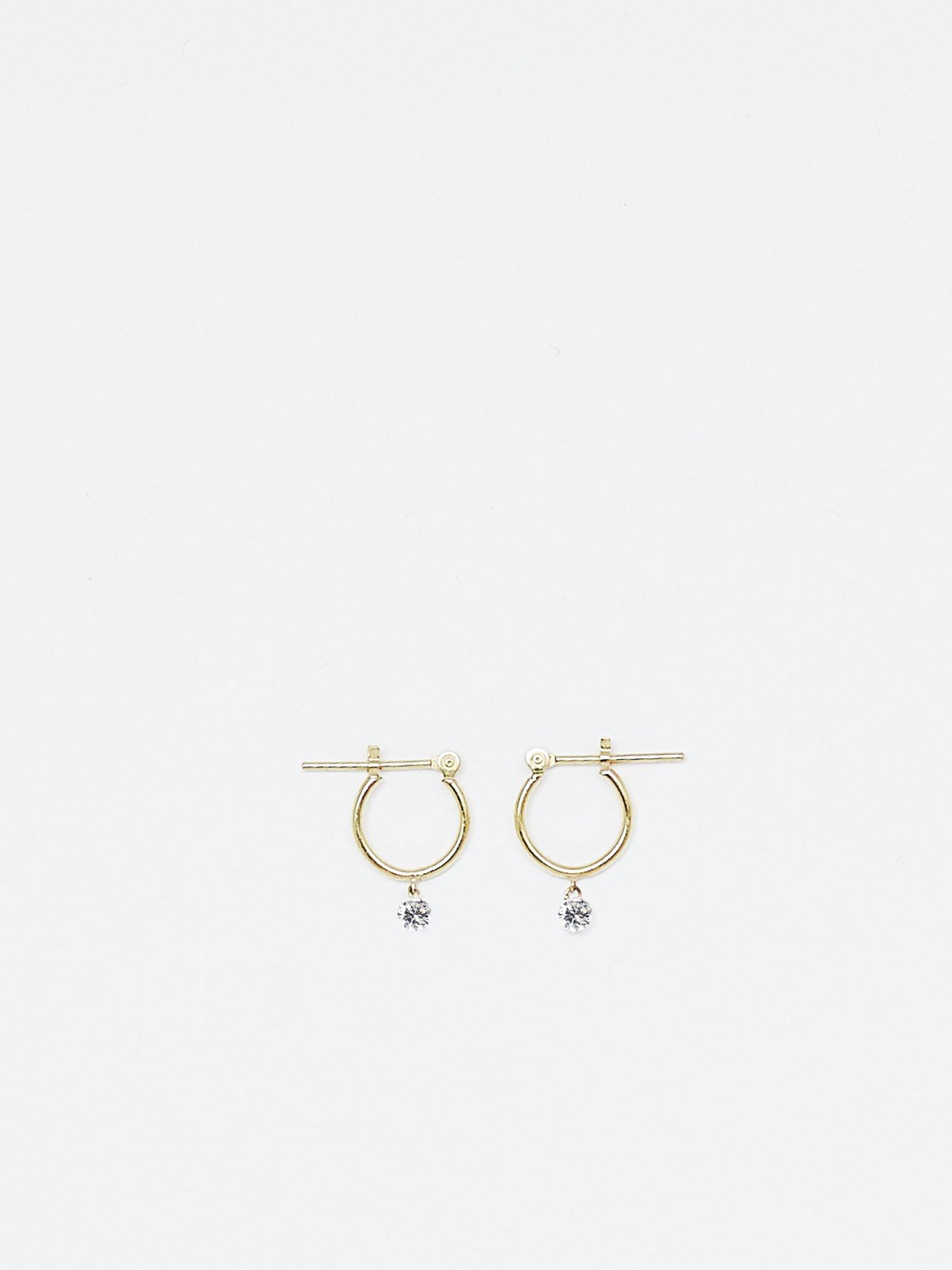 HISPANIA / Innocent drop hoop earrings