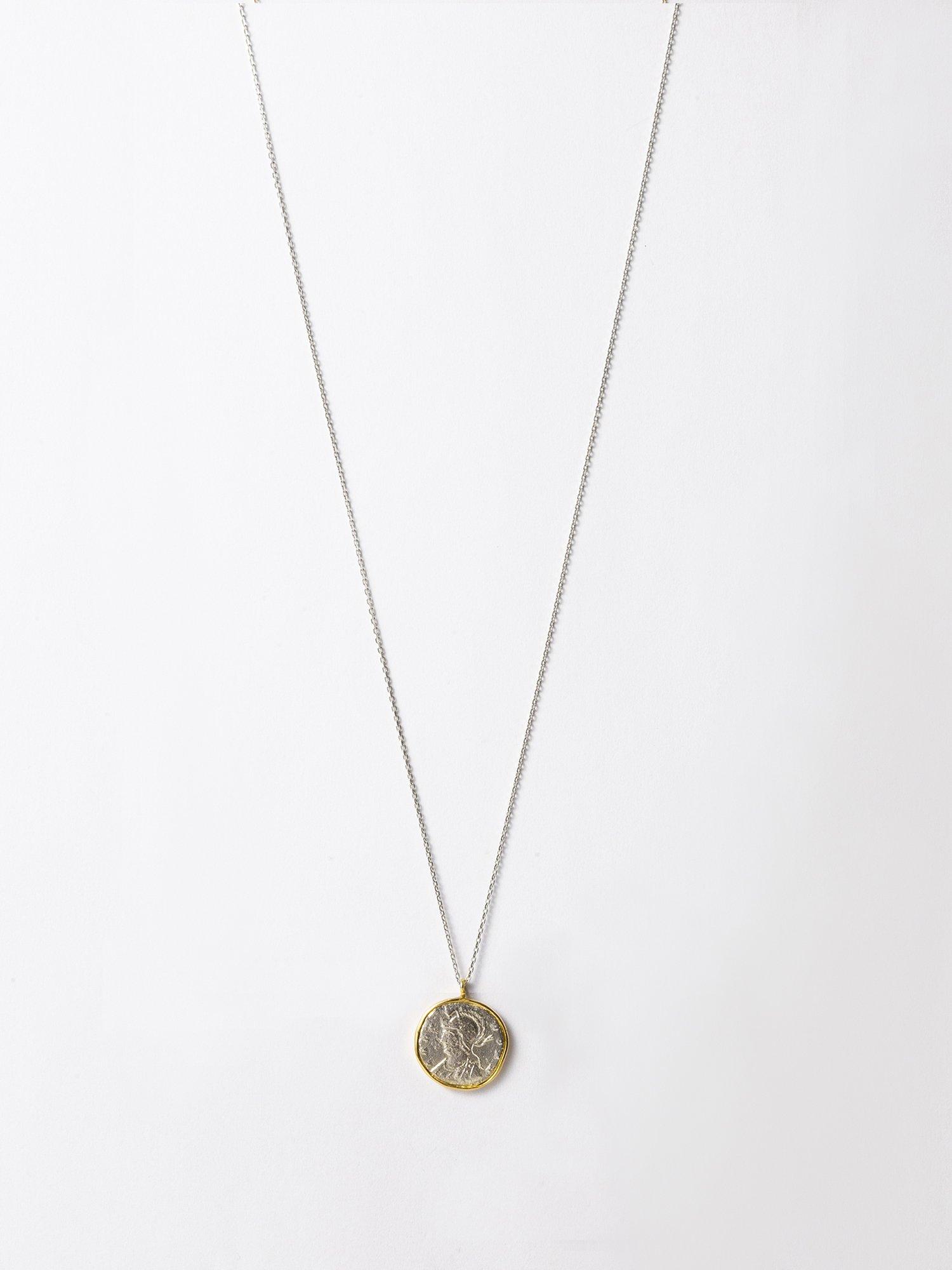 ARTEMIS / Roman coin necklace / Romulus and Remus