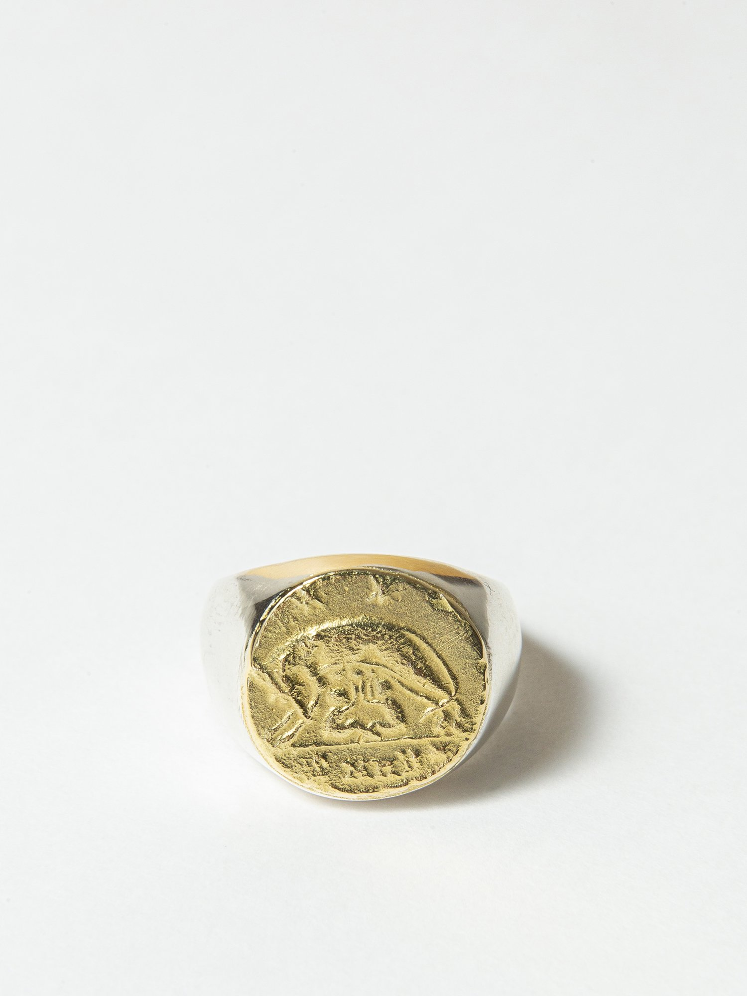 ARTEMIS / Roman coin signet ring / Romulus and Remus / 在庫商品 / 11号