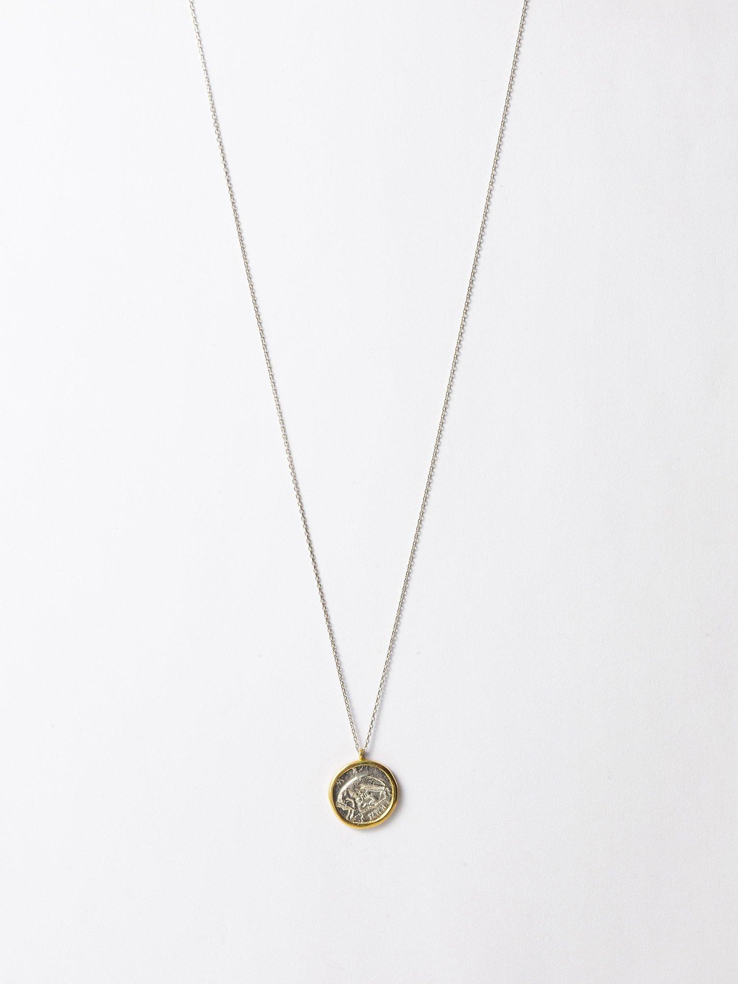 ARTEMIS / Roman coin necklace / Romulus and Remus / 在庫商品