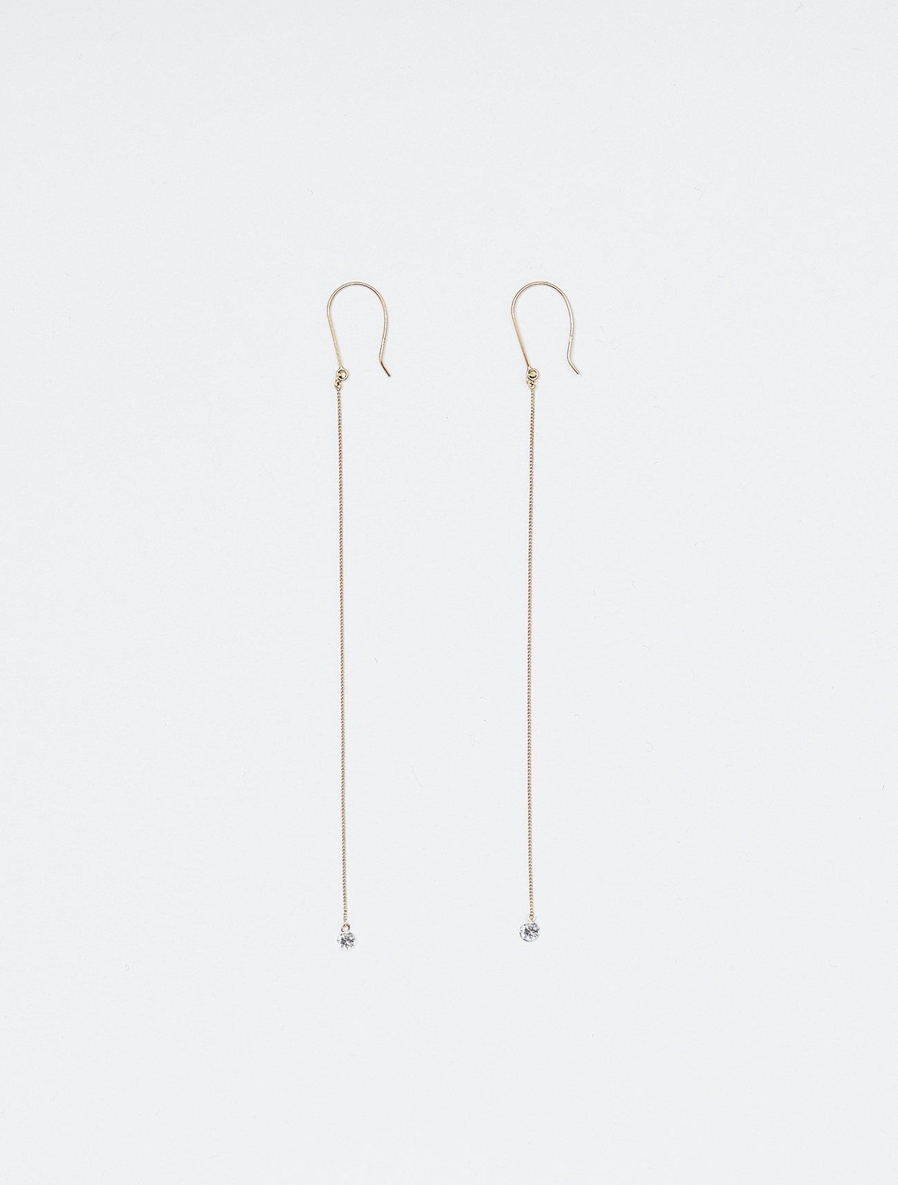 HISPANIA / Innocent drop long earrings / 在庫商品