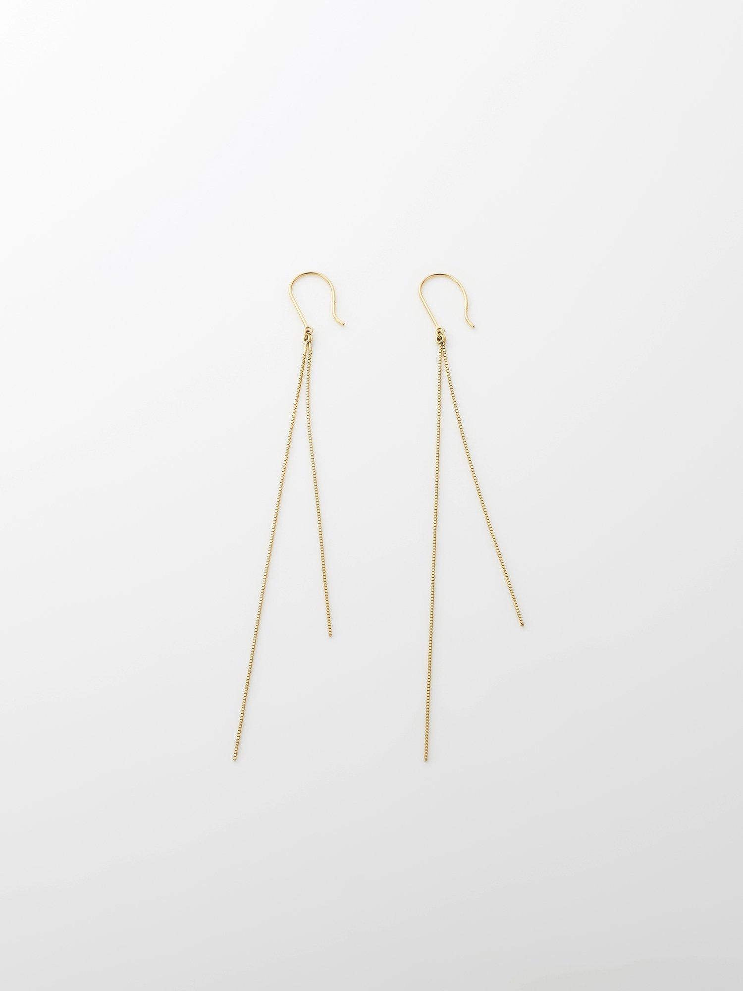 SOPHISTICATED VINTAGE / Gold line earrings / Short / 在庫商品