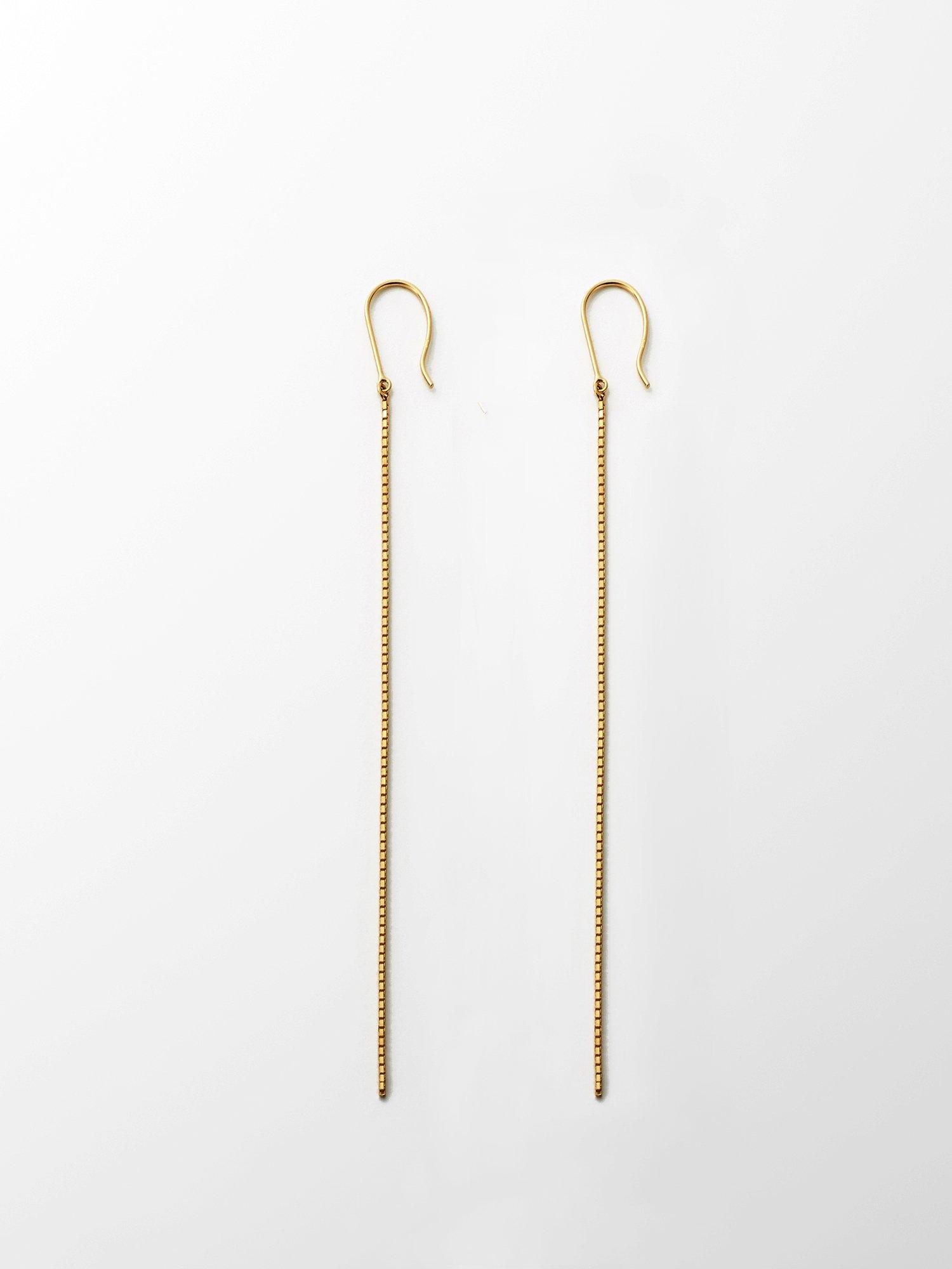 SOPHISTICATED VINTAGE / Solid chain earrings / 在庫商品