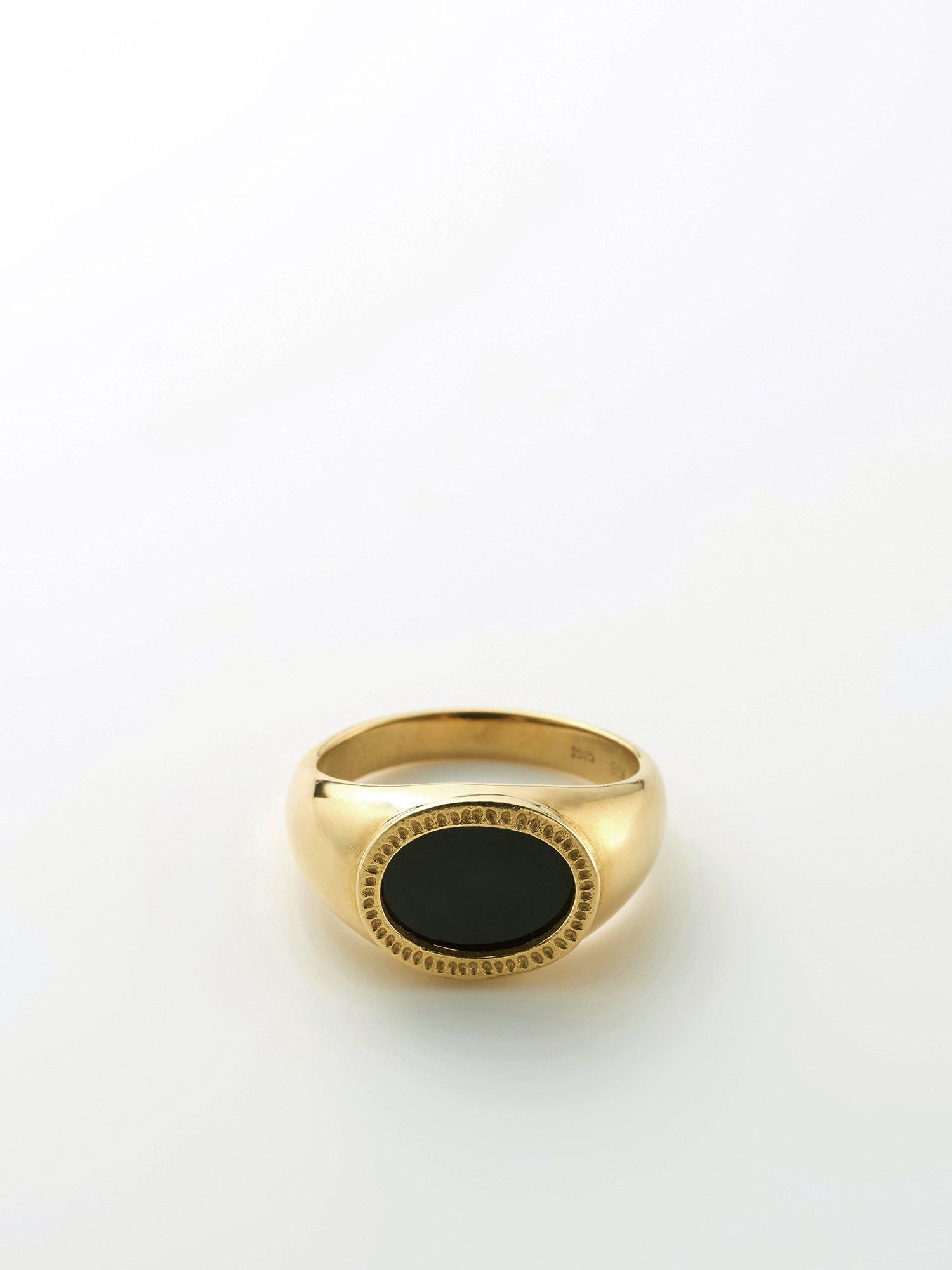 HELIOS / Onix signet ring / 12号 / 在庫商品