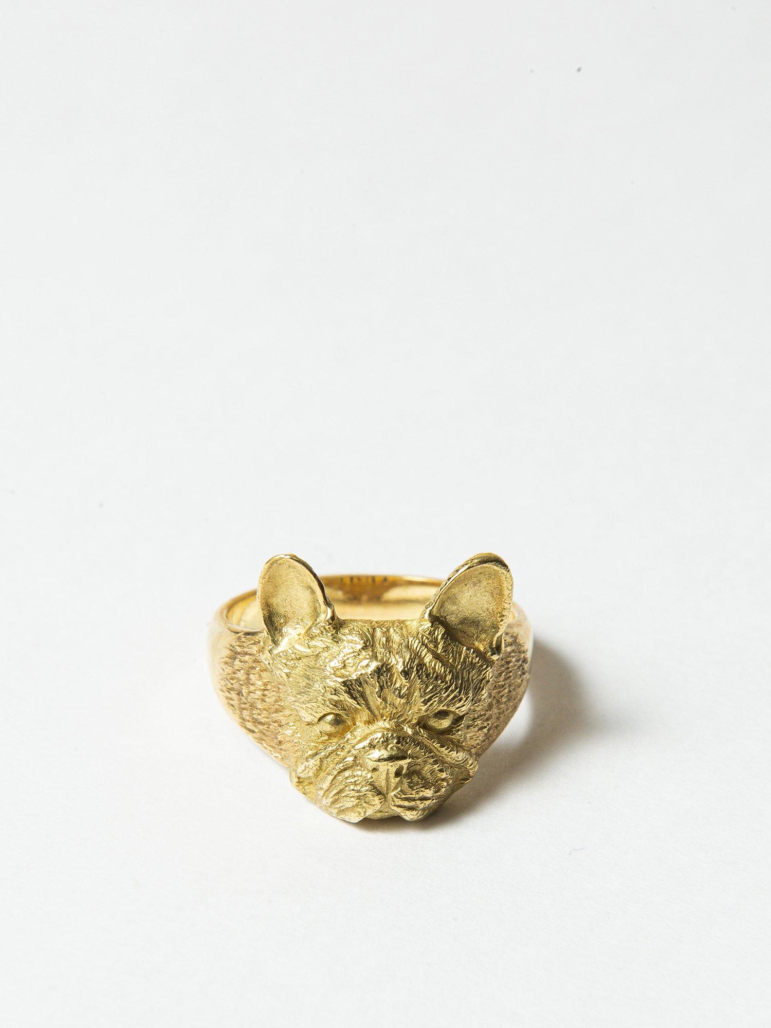 LOLO / French bulldog ring / 14号 / 在庫商品