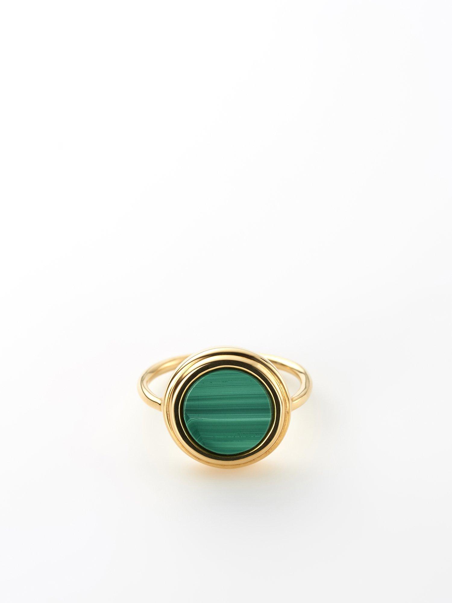 SOPHISTICATED VINTAGE / Planet ring / Malachite / 13号 / 在庫商品