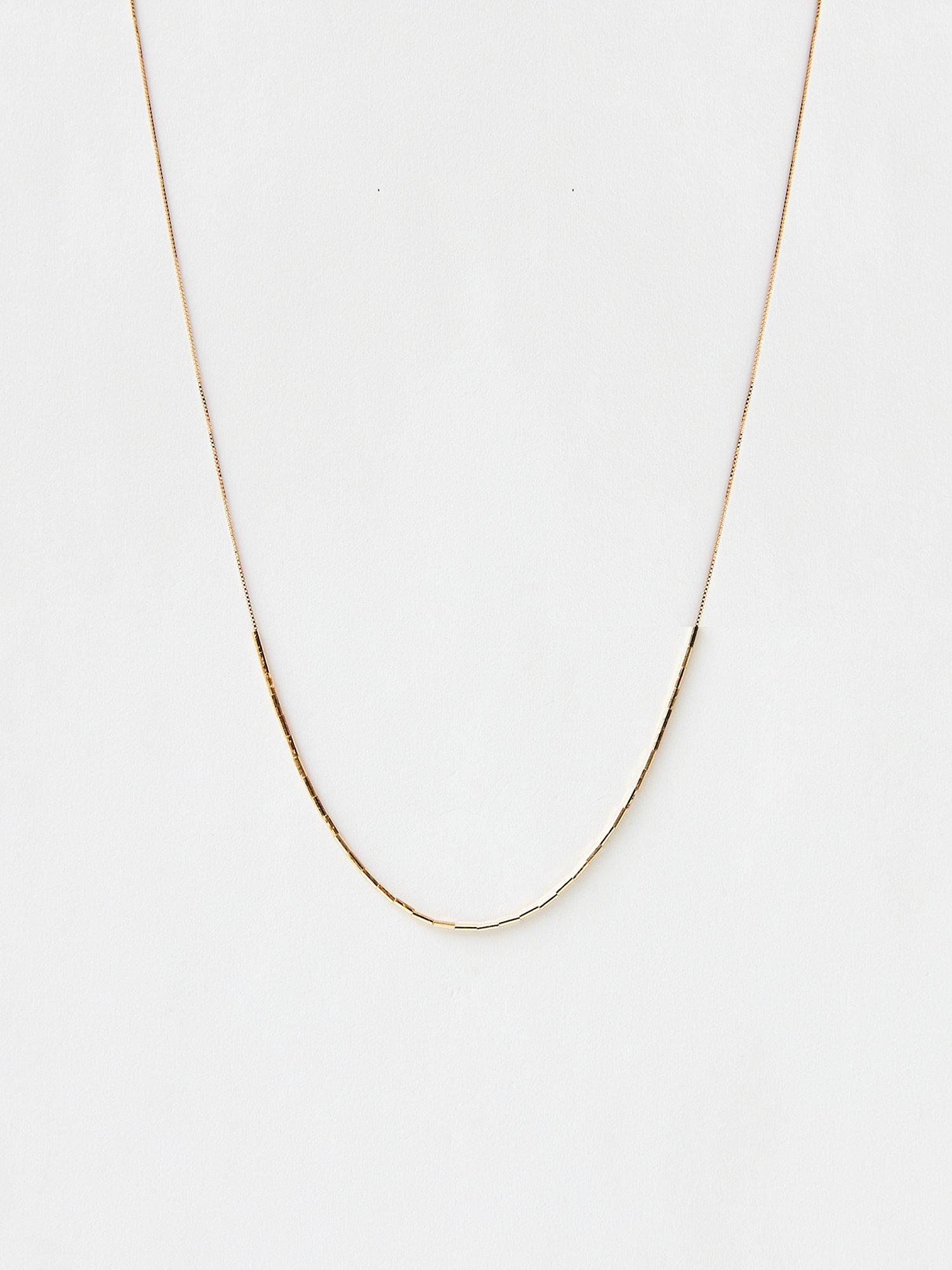 HISPANIA / Dazzling short chain necklace/ 380mm