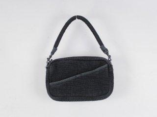 <Porter Classic/ポータークラシック>SASHIKO SHOULDER BAG S(Black)