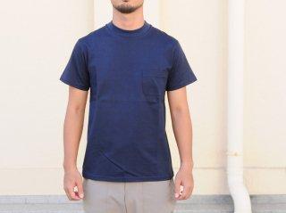 <L&HARMONY MEN/エルアンドハーモニーメン>ハイクルーネックポケットTシャツ(Navy)