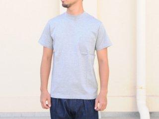 <L&HARMONY MEN/エルアンドハーモニーメン>ハイクルーネックポケットTシャツ(Gray)
