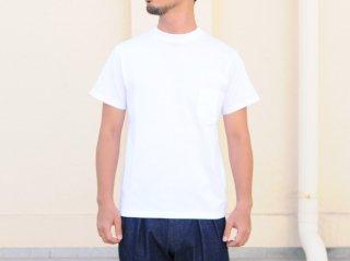 <L&HARMONY MEN/エルアンドハーモニーメン>ハイクルーネックポケットTシャツ(White)