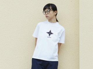 <L&HARMONY WOMEN/エルアンドハーモニウーマン>ハイクルーネックプリントTシャツ
