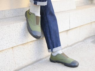<REPRODUCTION OF FOUND/リプロダクションオブファウンド>ITALIAN MILITARY TRAINER(Olive×Black Sole)