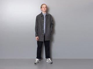<L&HARMONY MEN/エルアンドハーモニーメン>メルトンステンカラーコート(Gray)