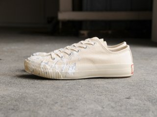 <PRAS/プラス>SHELLCAP LOW DROP PAINT(Kinari×Off White)