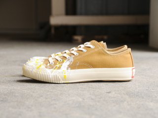 <PRAS/プラス>SHELLCAP LOW DROP PAINT(Brown×Off White)