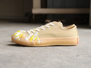 <PRAS/プラス>SHELLCAP LOW DROP PAINT(Beige×Gum)
