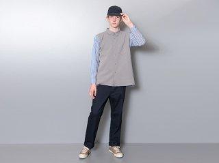 <L&HARMONY/エルアンドハーモニー>ストライプニットスイッチシャツ(Gray)