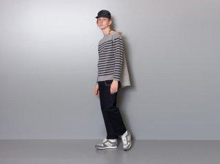 <L&HARMONY/エルアンドハーモニー>ニットスイッチバスクシャツ(Gray)