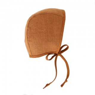 Briar Handmade Rust Linen Bonnet