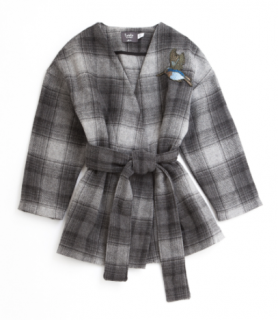 <img class='new_mark_img1' src='https://img.shop-pro.jp/img/new/icons24.gif' style='border:none;display:inline;margin:0px;padding:0px;width:auto;' />tocoto vintage/Check Bathrobe Coat