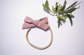 baby headband ☆Pink Linen