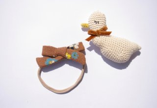 baby headband ☆Brown Flower