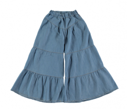 <img class='new_mark_img1' src='https://img.shop-pro.jp/img/new/icons24.gif' style='border:none;display:inline;margin:0px;padding:0px;width:auto;' />Tocoto Vintage/ Light denim palazzo trousers