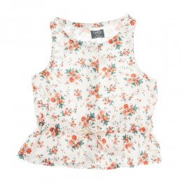 <img class='new_mark_img1' src='https://img.shop-pro.jp/img/new/icons24.gif' style='border:none;display:inline;margin:0px;padding:0px;width:auto;' />Tocoto Vintage/ Sleeveless flower blouse with waist ribbon