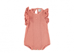 <img class='new_mark_img1' src='https://img.shop-pro.jp/img/new/icons24.gif' style='border:none;display:inline;margin:0px;padding:0px;width:auto;' />Tocoto Vintage/ Salmon Openwork Bodysuit