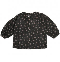 <img class='new_mark_img1' src='https://img.shop-pro.jp/img/new/icons24.gif' style='border:none;display:inline;margin:0px;padding:0px;width:auto;' />Tocoto Vintage/Flower print blouse/Dark Brown